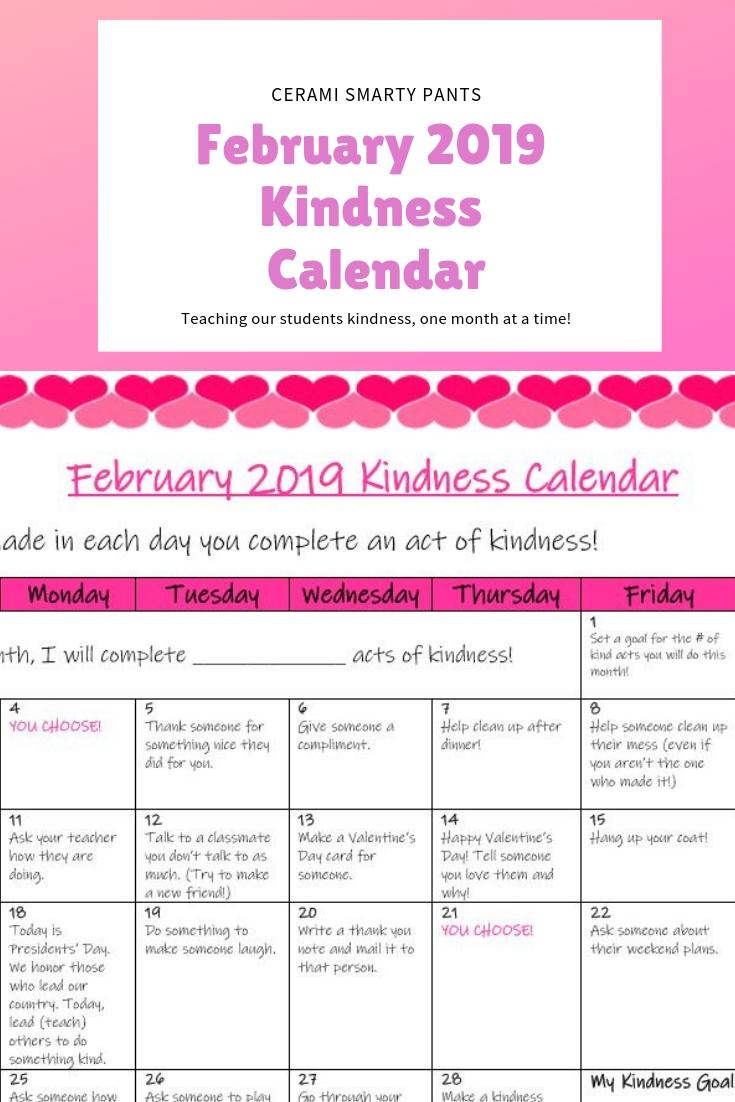 Kindness Calendar For Kids 2021