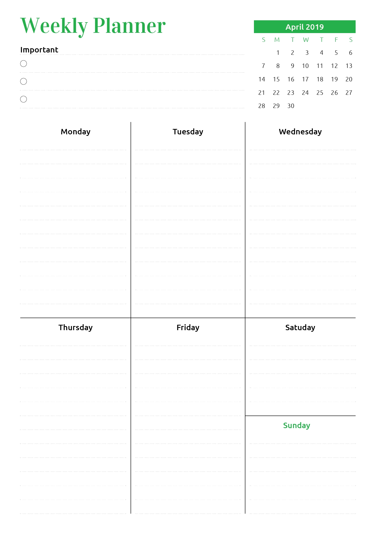 Pin On Weekly Planners