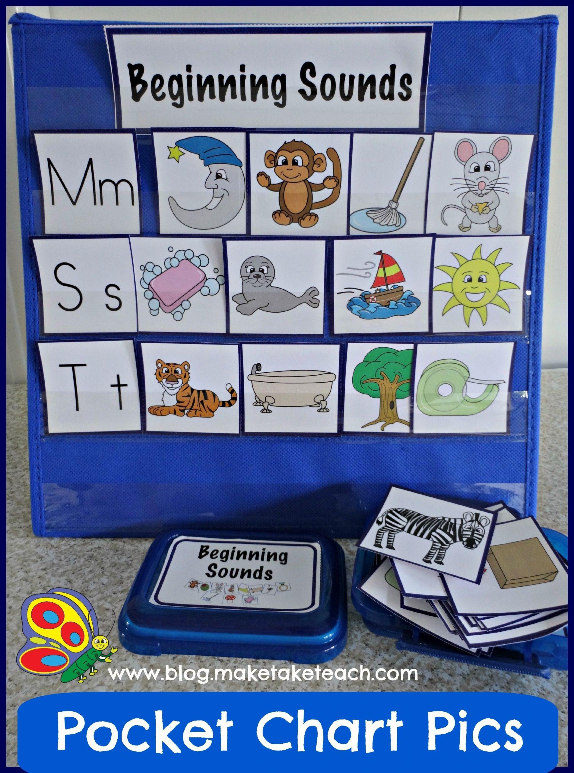 Pocket Chart Pictures - Make Take & Teach | Alphabet