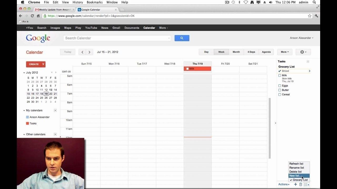 Print Google Calendar With Tasks In 2020 | Google Calendar