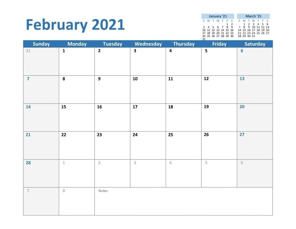 Print Monthly Calendar 2021 Template For Saving The Time