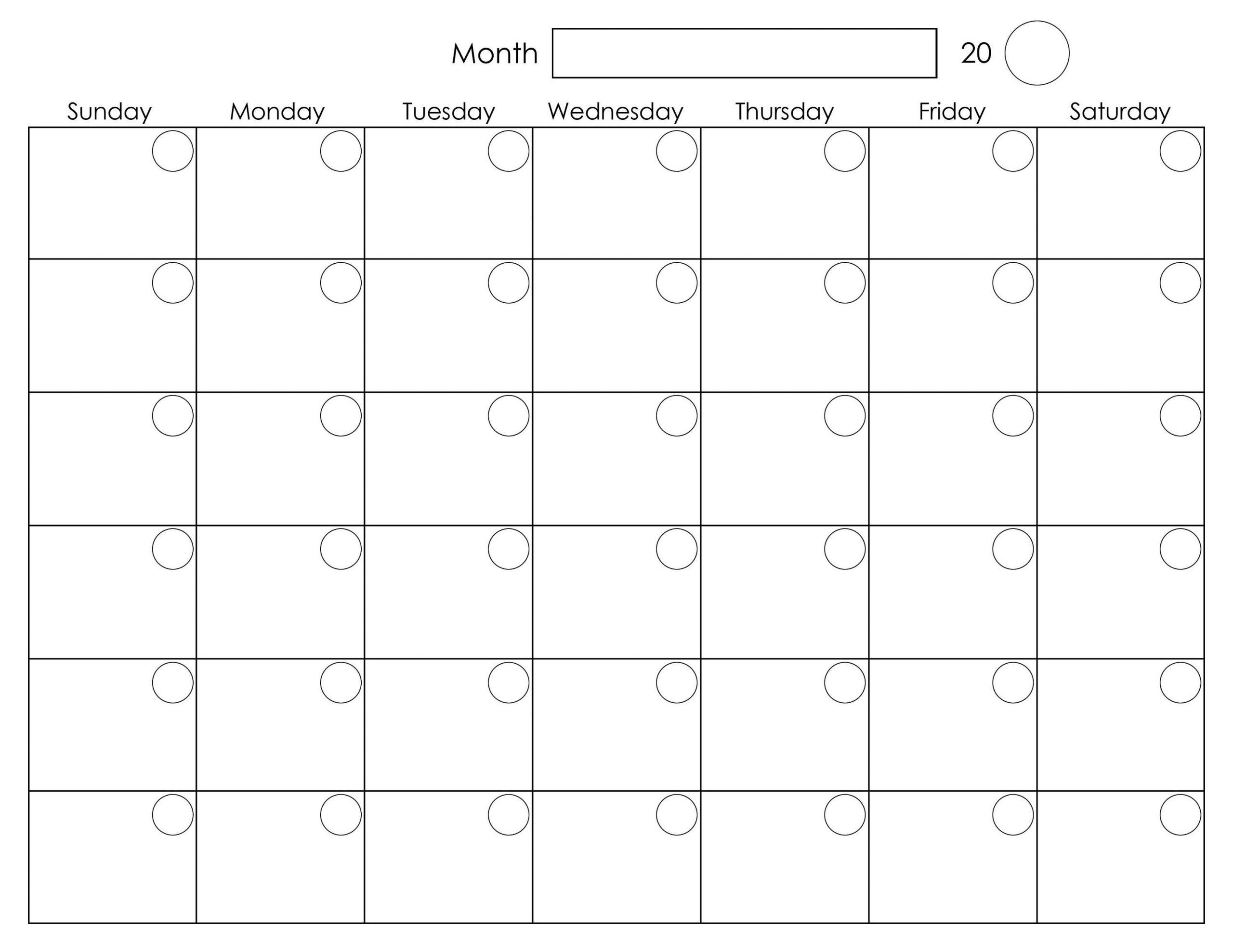 Printable Blank Monthly Calendar | Calendar Printables
