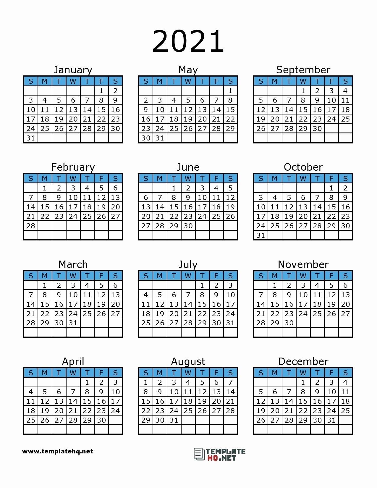 Printable Calendar 2021 In 2020 | Calendar Printables, 2021