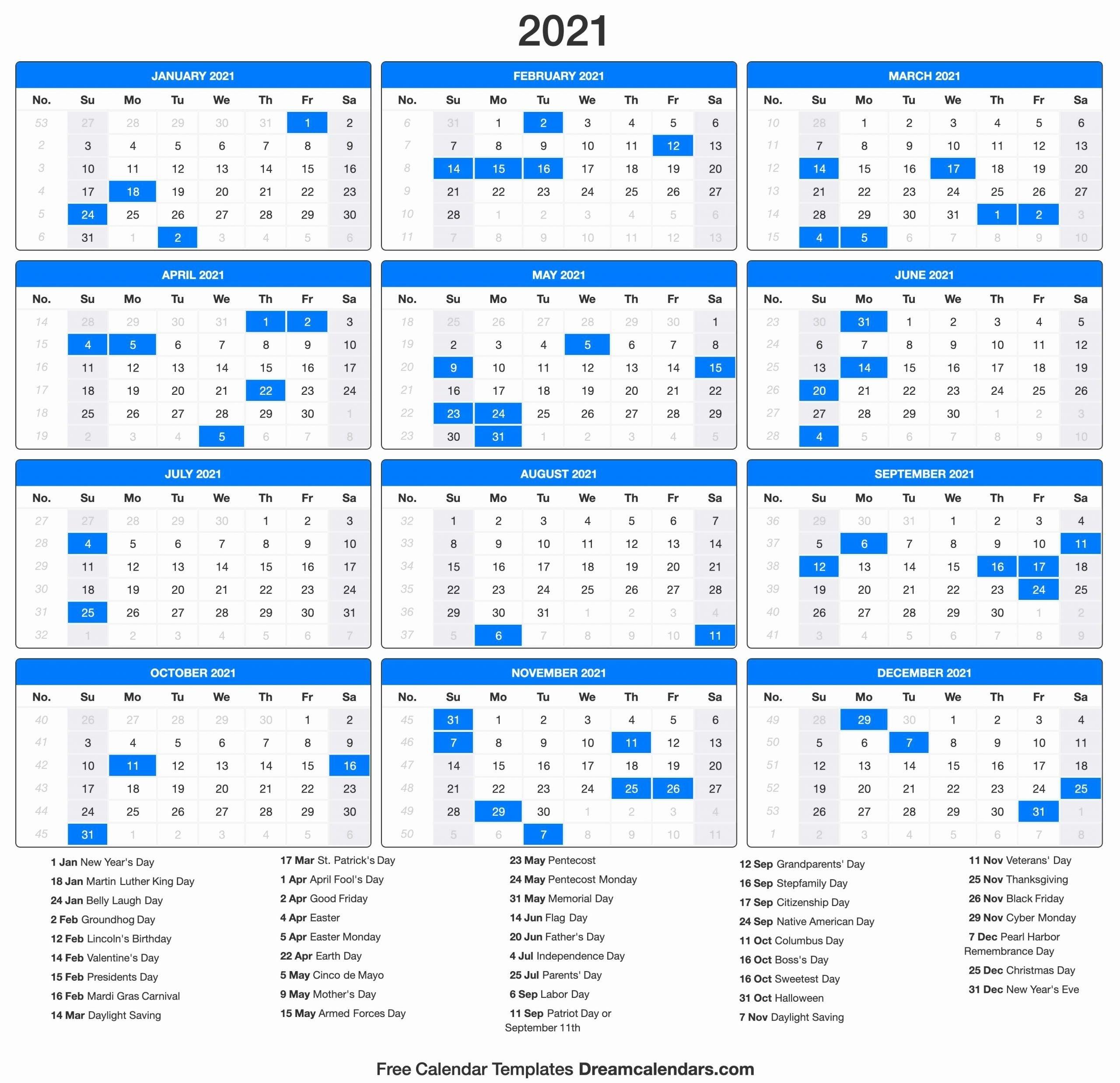 Printable Calendar 2021 In 2020 | Calendar Printables