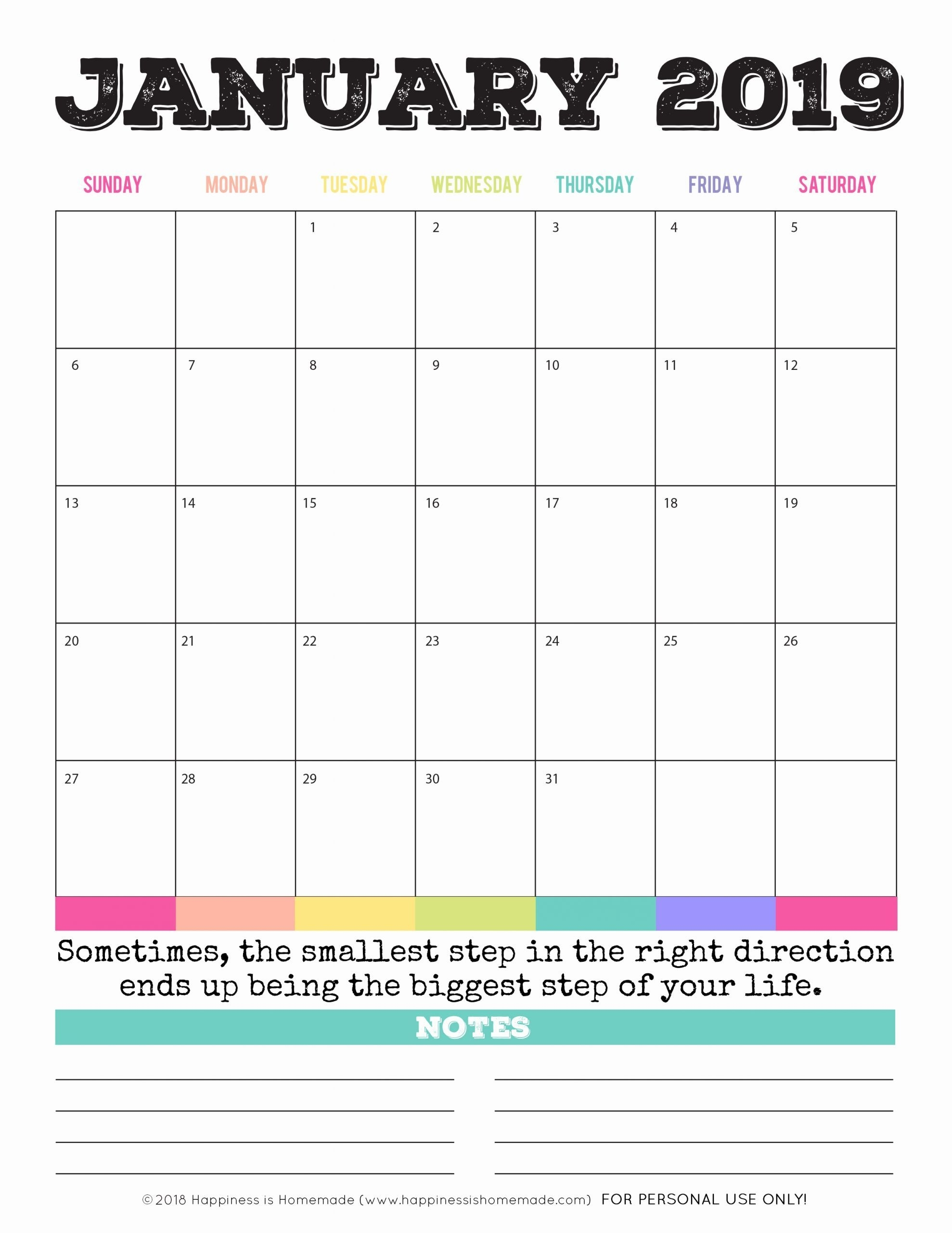 Printable Calendar 5 X 7 In 2020 | Printable Calendar Pages