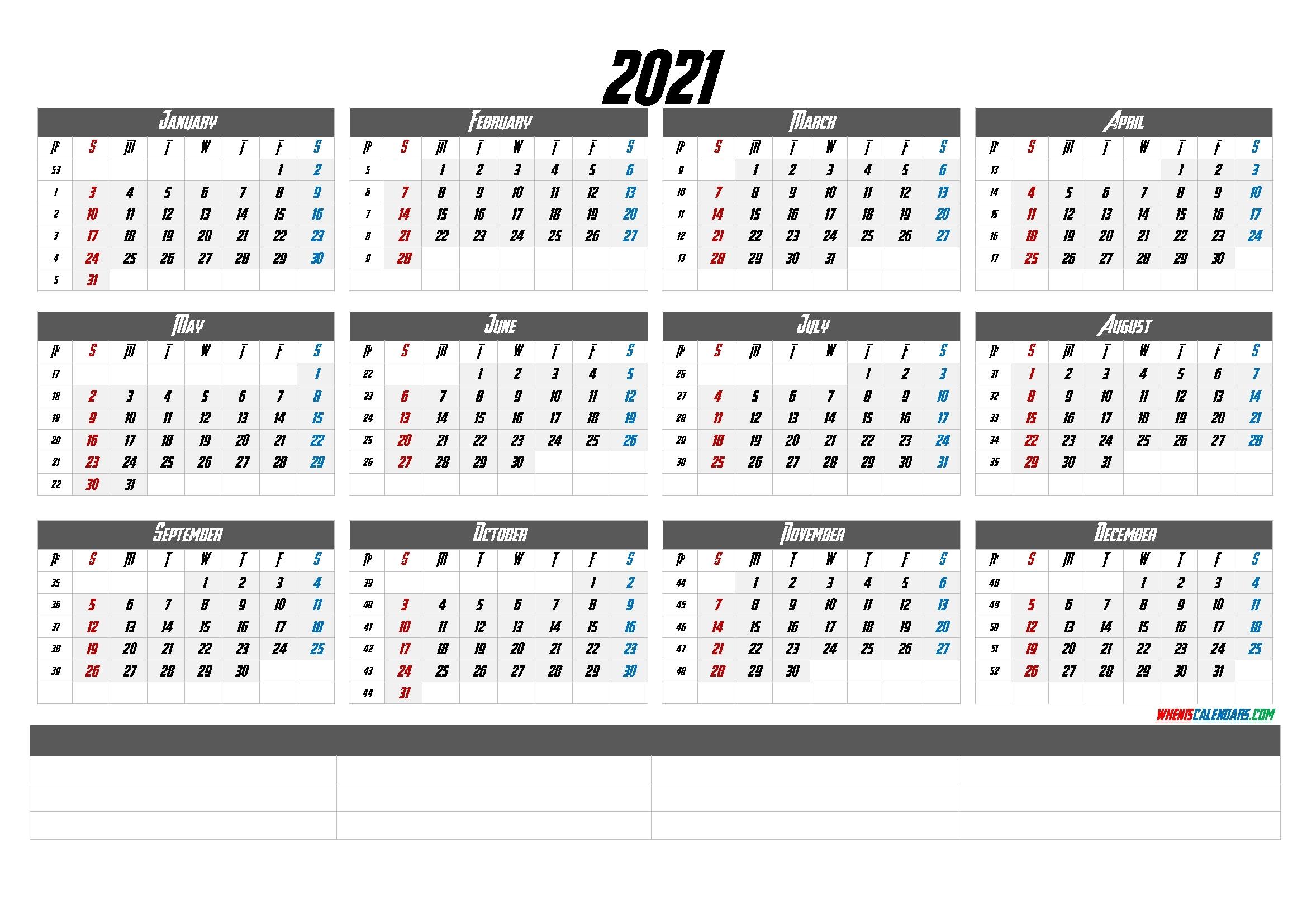 Printable Calendar Templates 2021 (6 Templates) – Free 2020