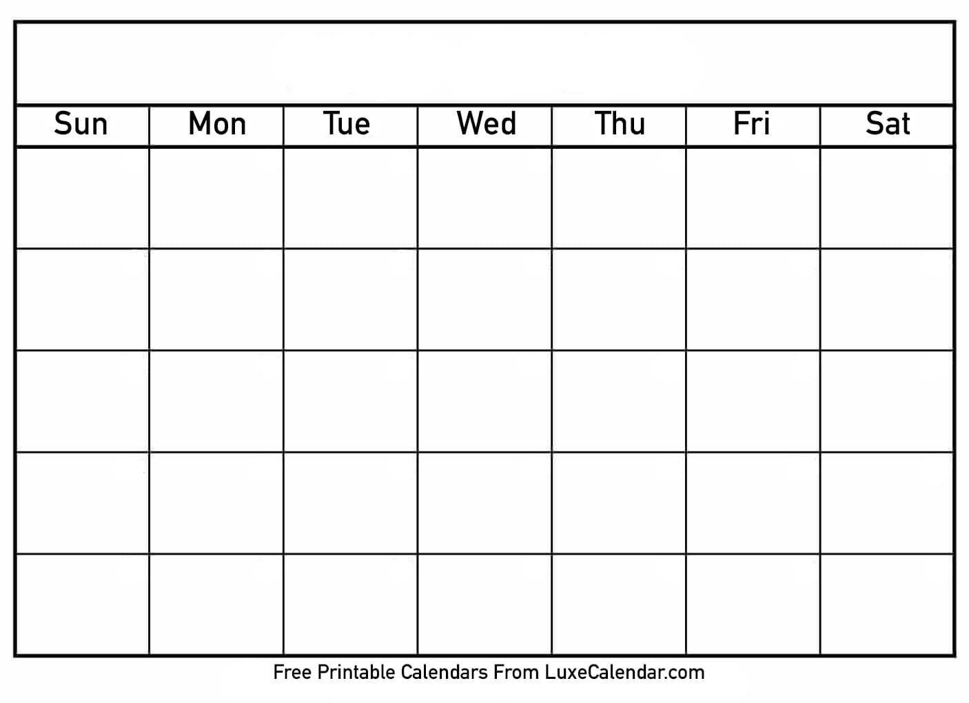 Printable Calendar You Can Add Text Printable Calendar You