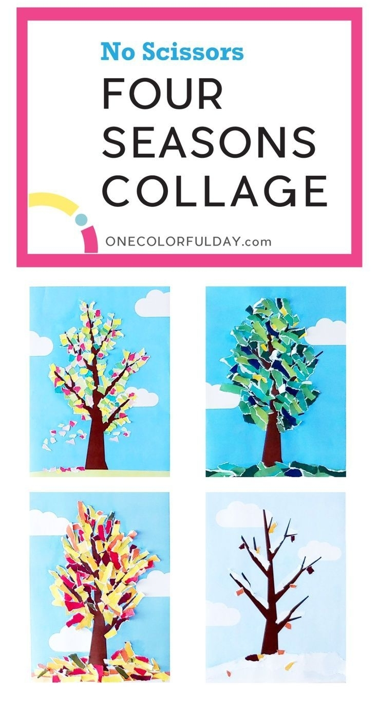 Printable Four Seasons Craft Pack - Onecolorfulday | Crafts