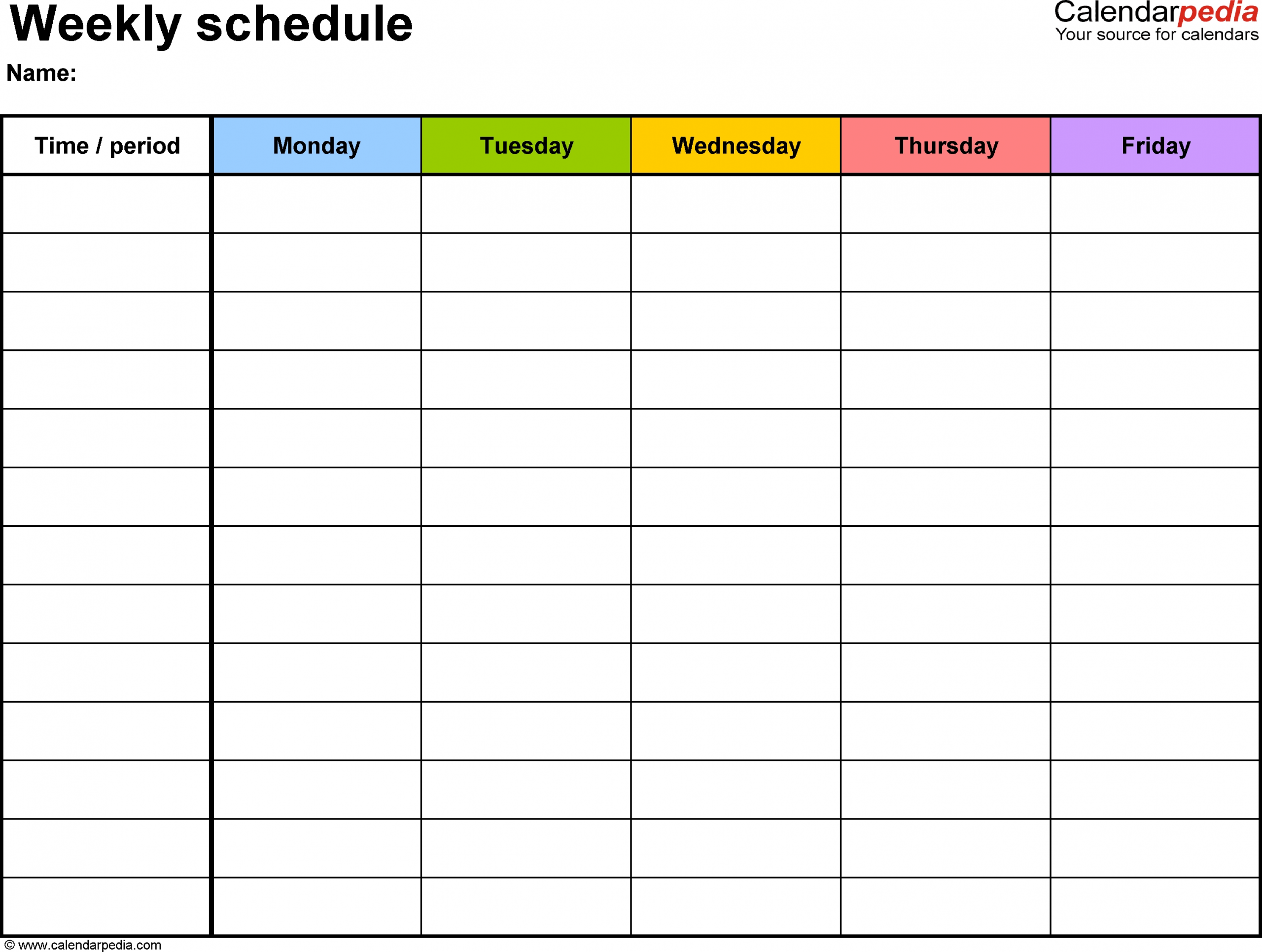 Printable Weekly Calendar | Calendar For Planning
