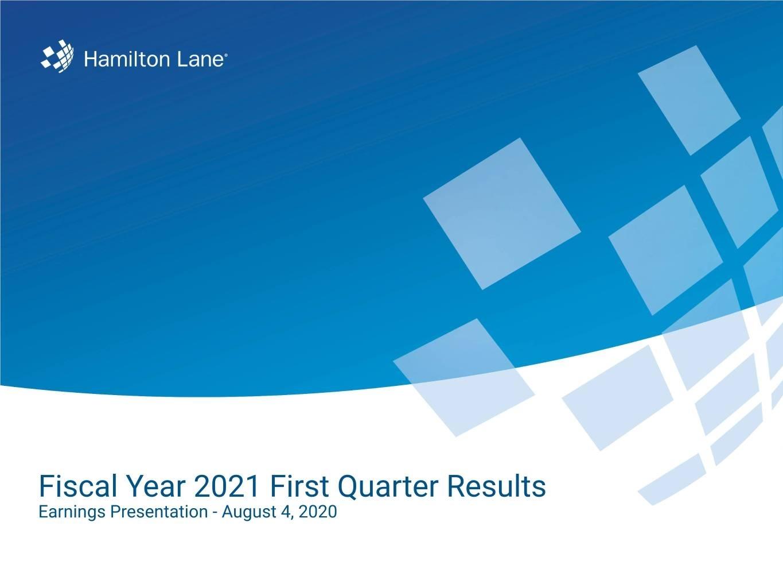 Q1Fy2021 Exhibit 99.1 Hamilton Lane Inc 2020 Current Report 8-K