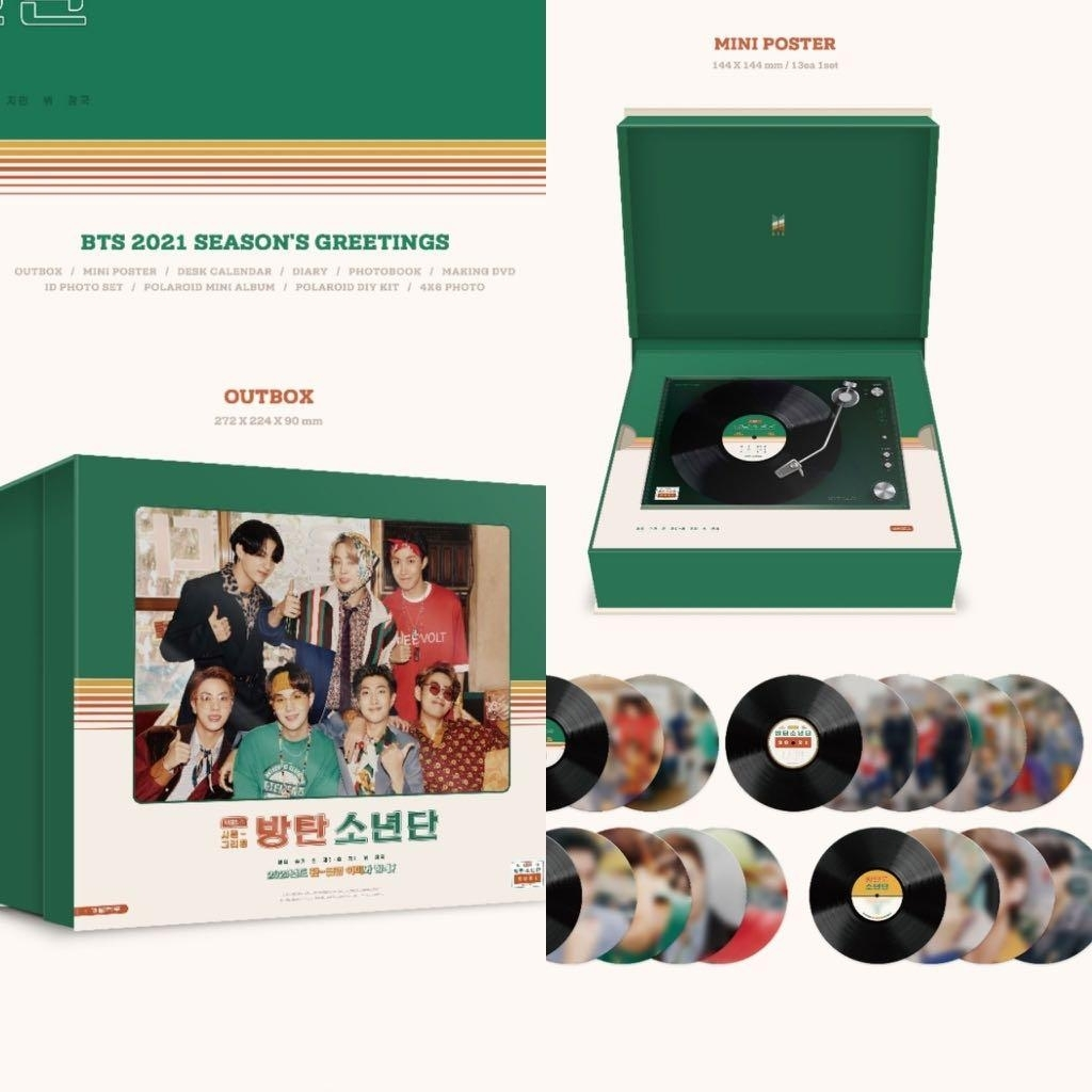 Share/Po] Bts 2021 Season'S Greetings And Wall Calendar