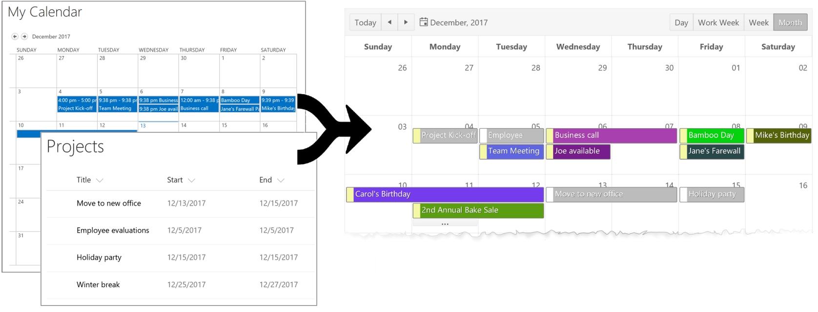 Sharepoint Office Event Calendar | Bamboo Solutions