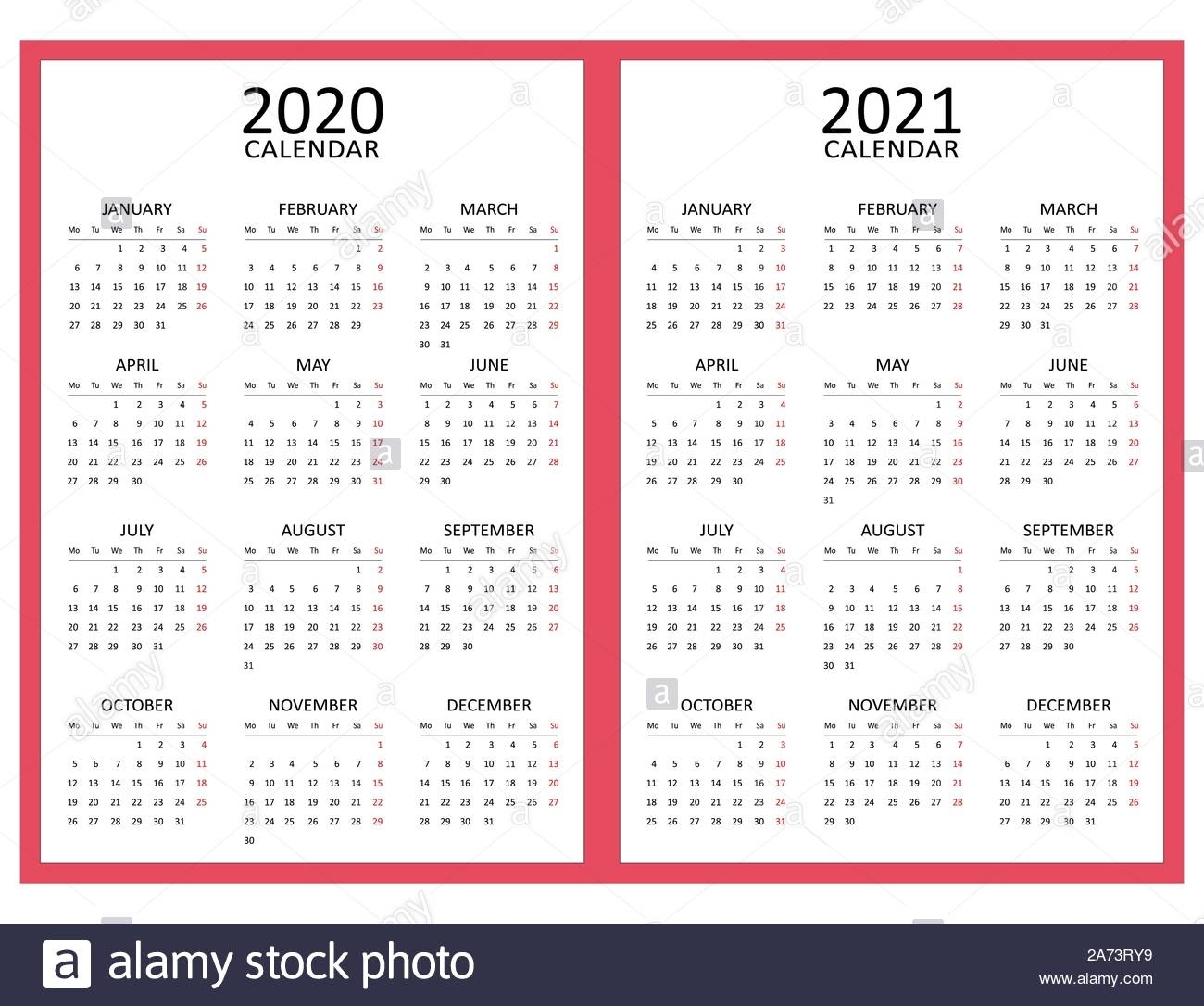 Calendar Weekends Only 2021