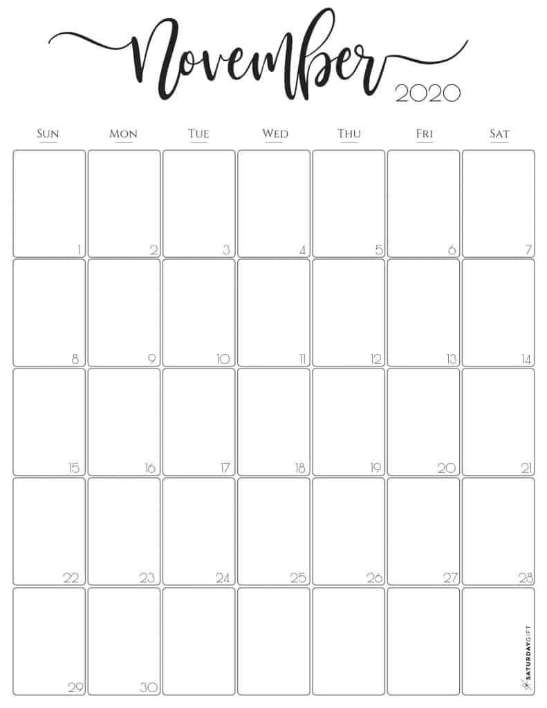 Simple & Elegant Vertical 2021 Monthly Calendar - Pretty