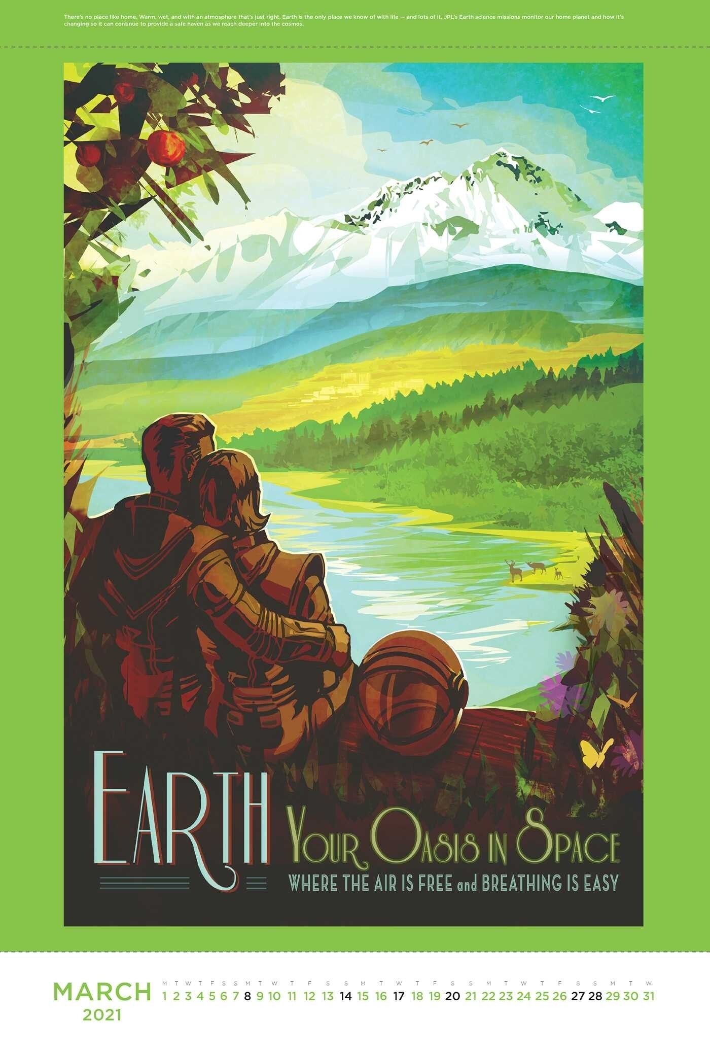 Space Travel Posters 2021 Poster Calendar - Book Summary