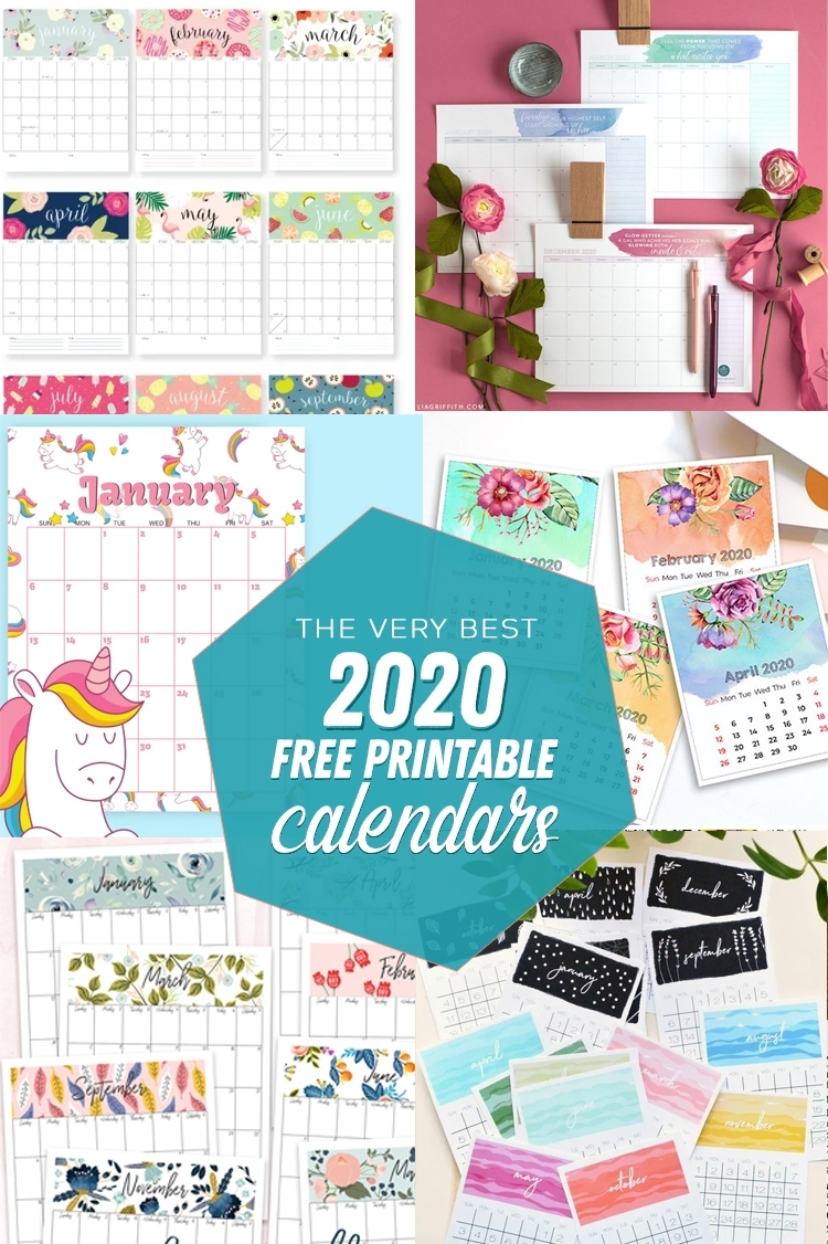 The Best Free Printable Calendars Of 2020 - The Craft Patch