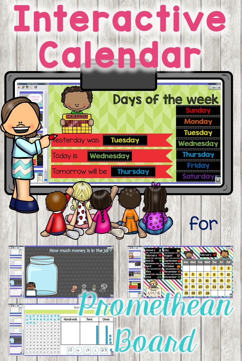 This Interactive Calendar Flipchart In Activinspire For