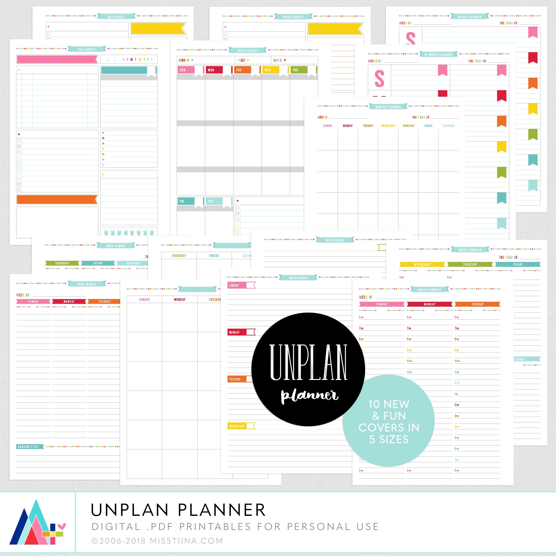Unplan Planner Pages – Misstiina