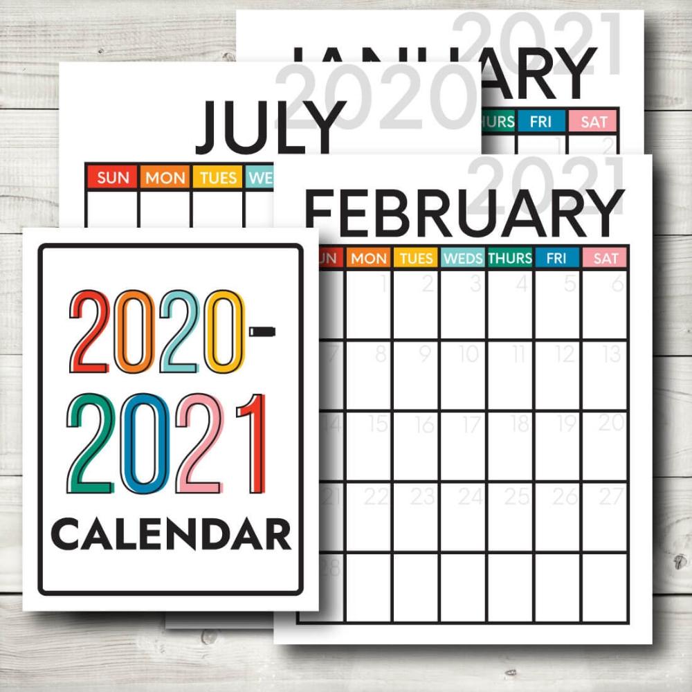 Updated 2020-2021 Calendar In 2020   Printable Calendar