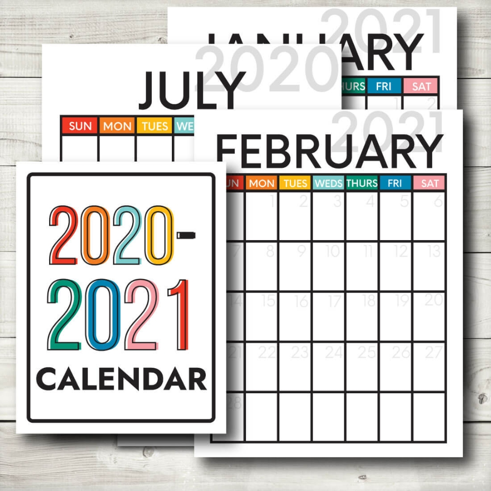 Updated 2020-2021 Calendar In 2020 | Printable Calendar
