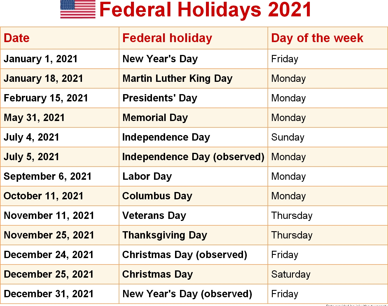 Ups Holiday Schedule 2021 | Ups Holidays 2021