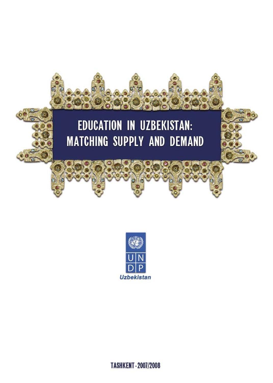 Uzbekistan Human Development Report 2008United Nations