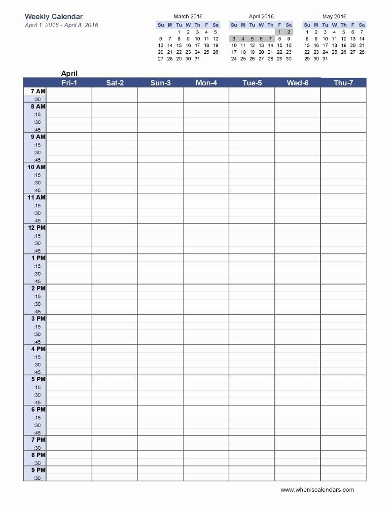 6 Week Blank Schedule Printable
