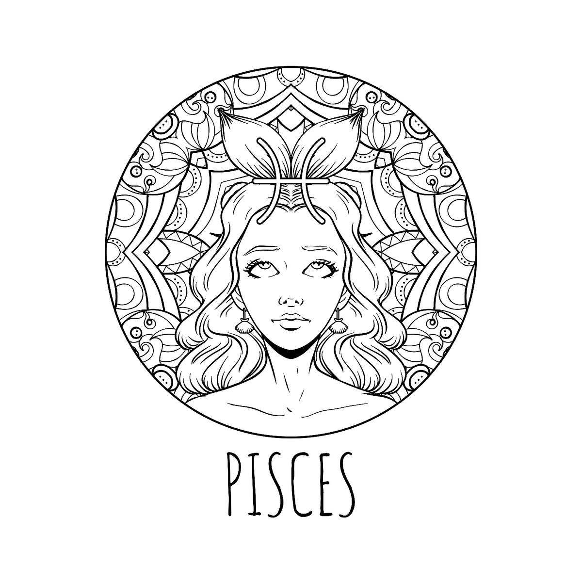 Zodiac Coloring Pages: Printable Zodiac Signs Coloring Pages