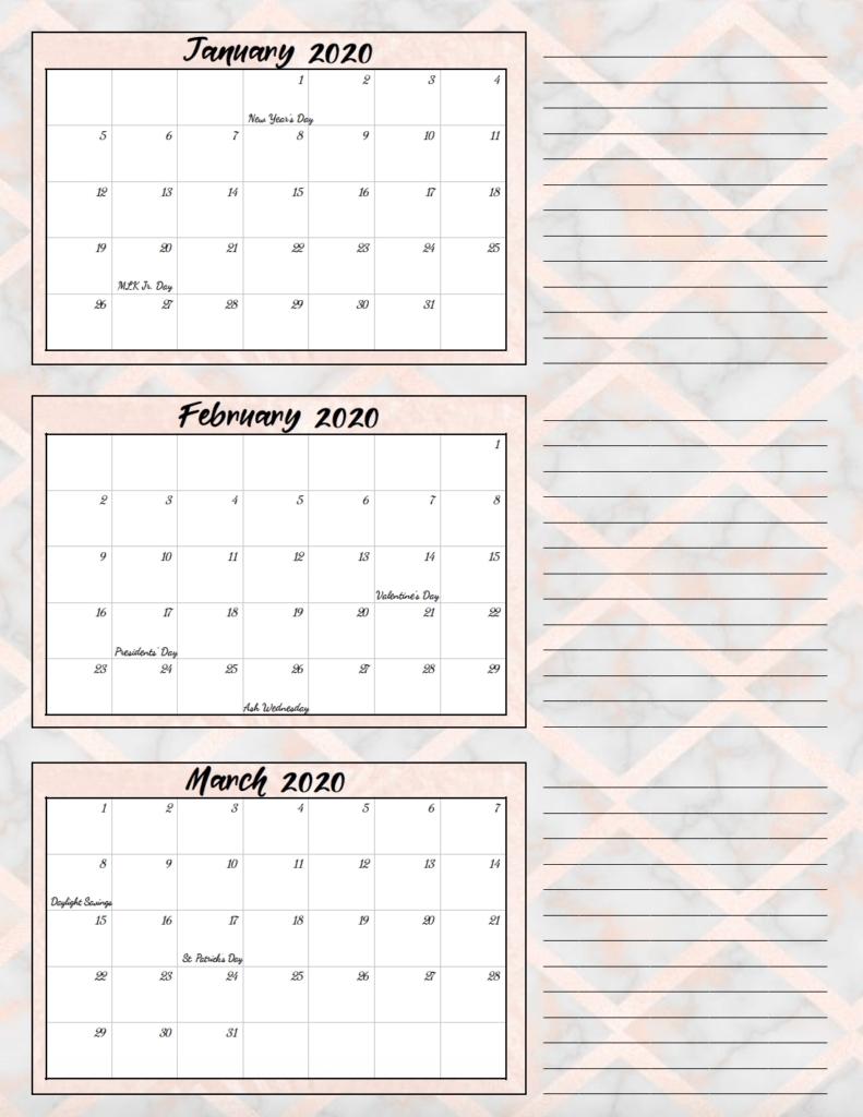 1St Quarter 2021 Dates | Month Calendar Printable