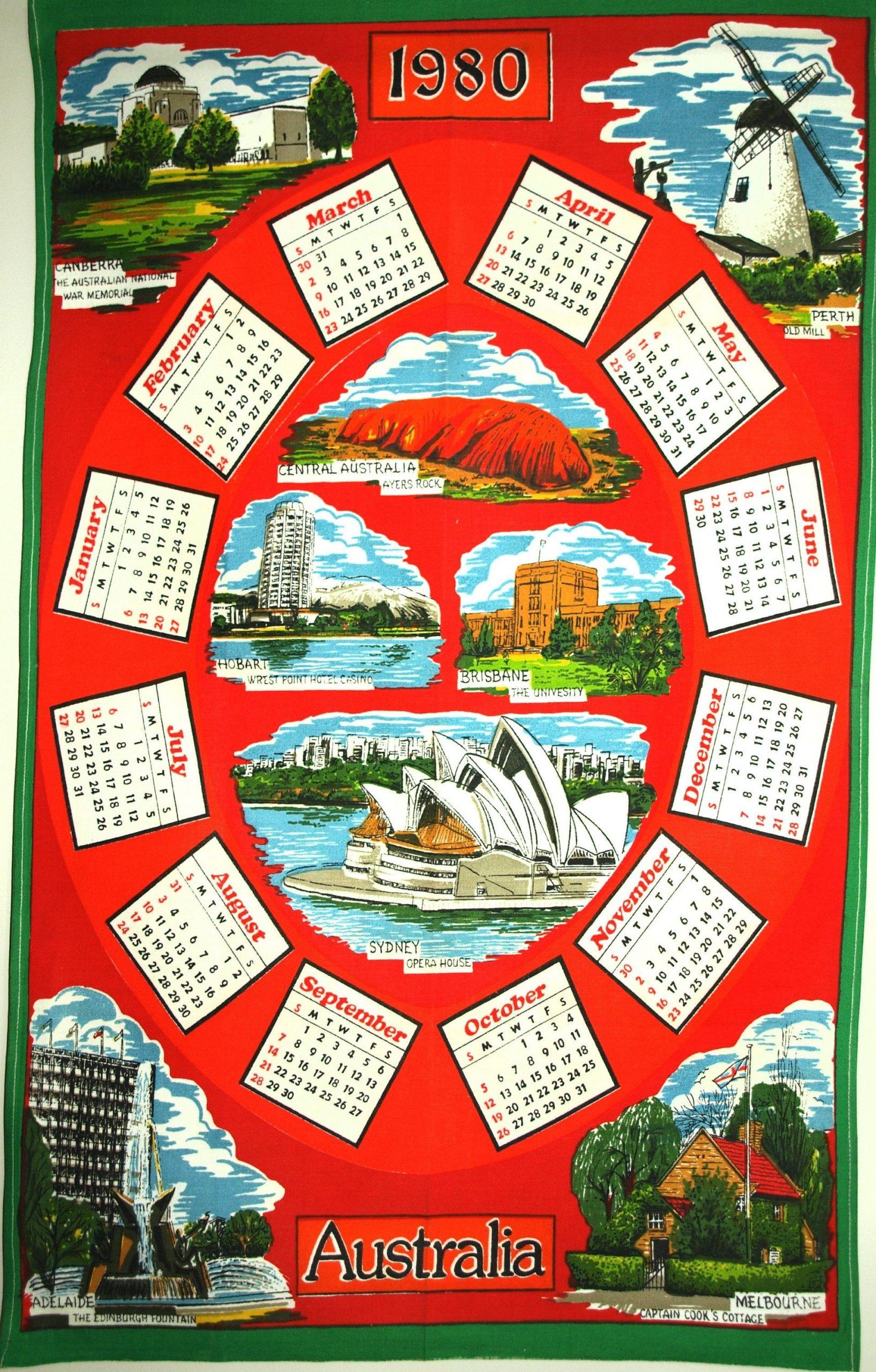 20+ 1980 Calendar - Free Download Printable Calendar