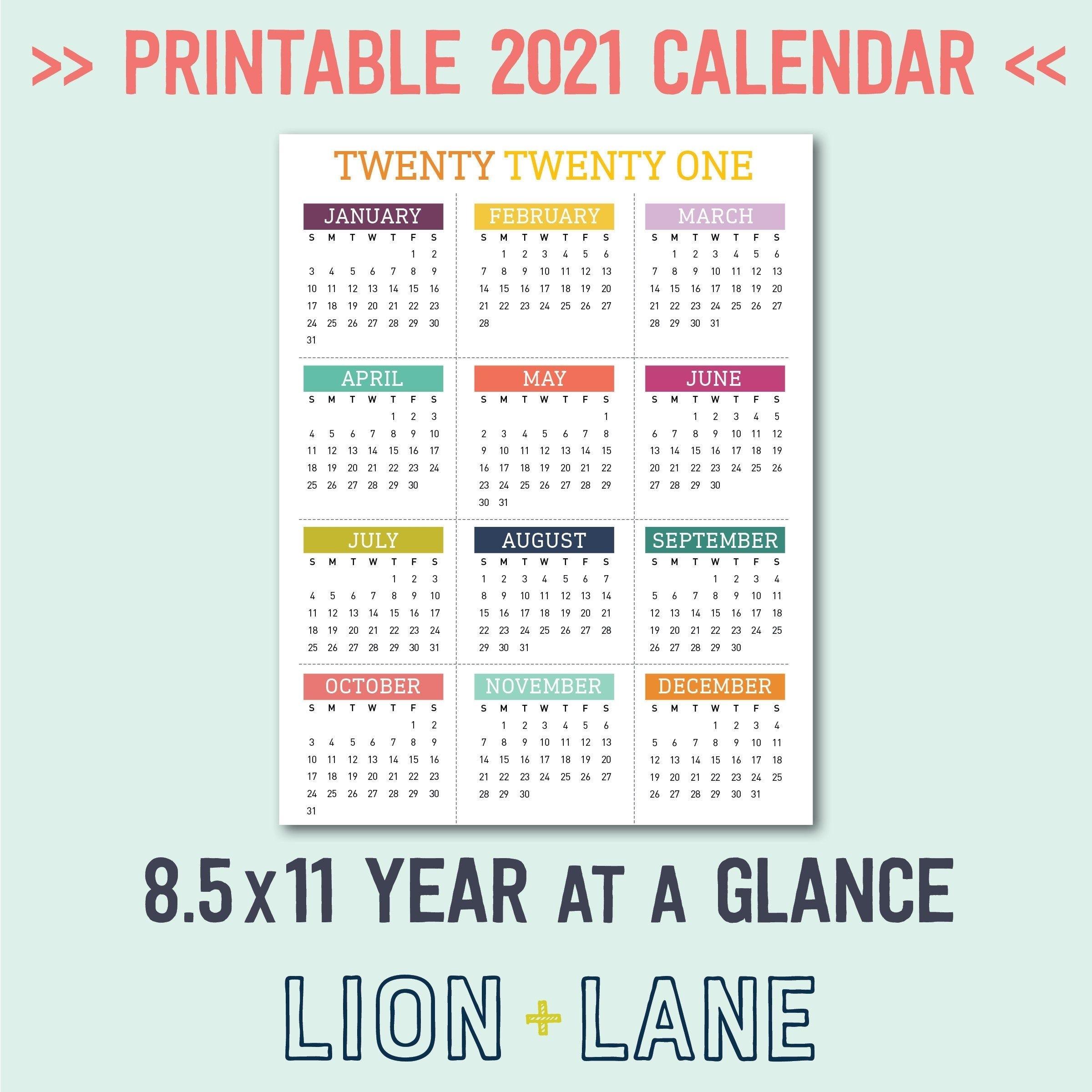 20+ 2021 Calendar 8 5 X 11 - Free Download Printable