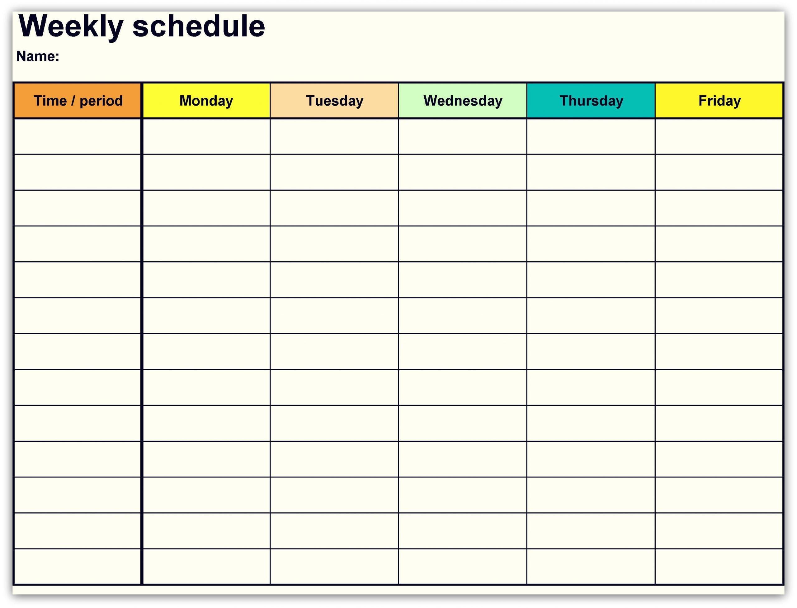 2018 Weekly Planner Calendar | Marketing Calendar Template