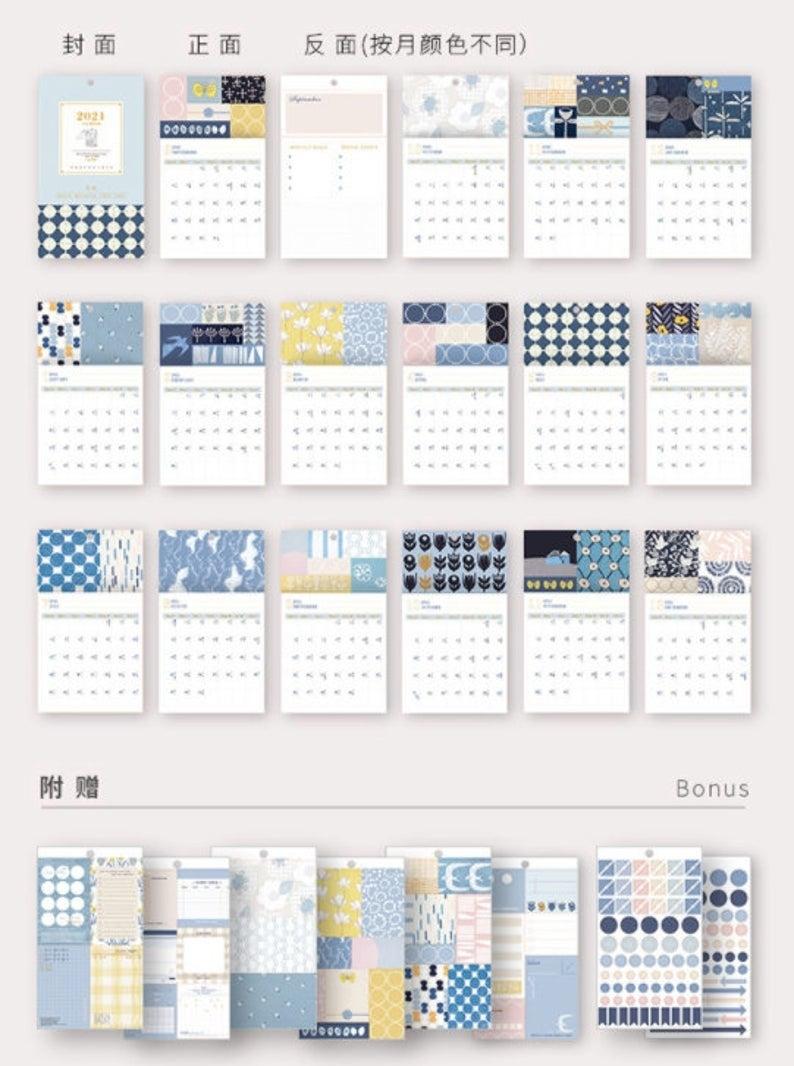 Table Calendar 2021 Excel