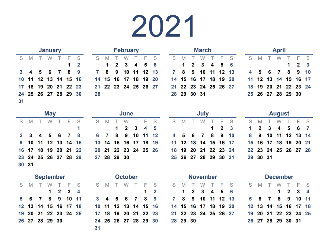 2020 And 2021 Calendar Excel   Free Letter Templates