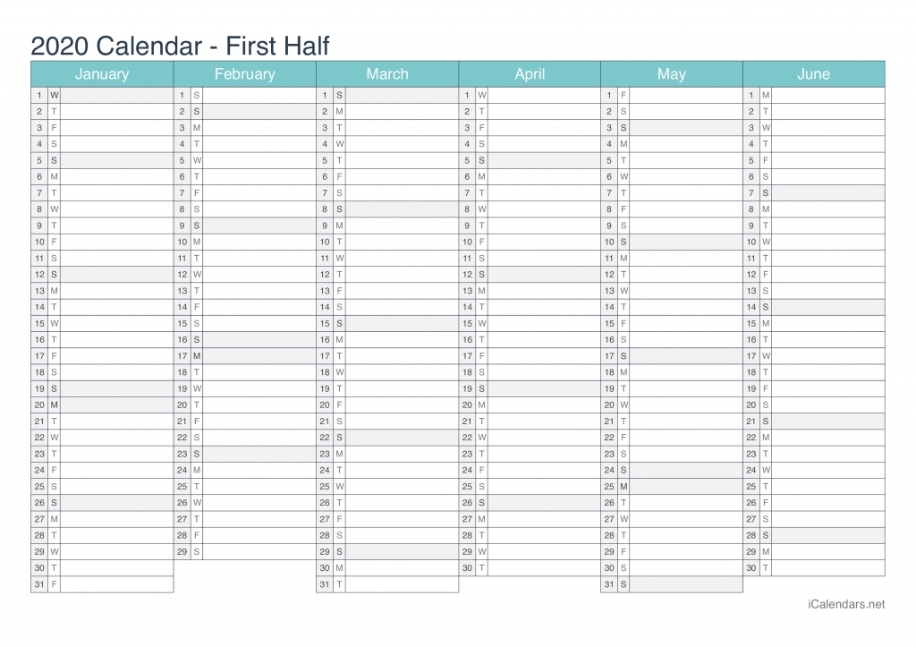 2020 Day Count Calander - Calendar Template 2021