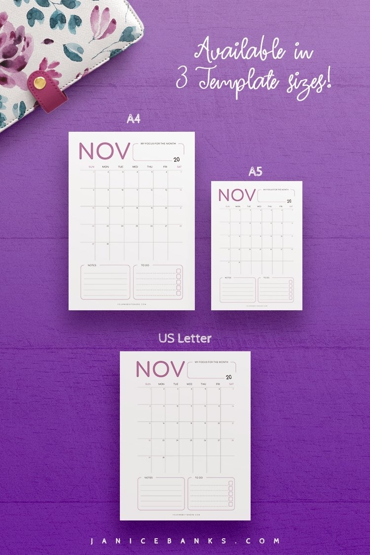 2021-2023 Calendar Indesign Template For Commercial Use