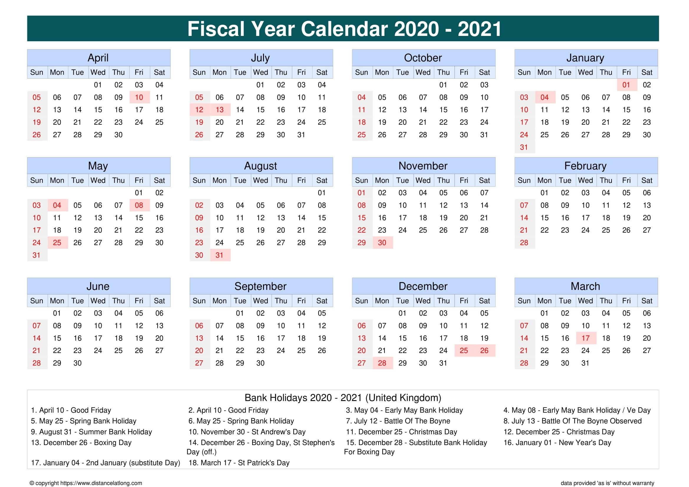 2021 Bank Holiday Calendar | 2021 Calendar