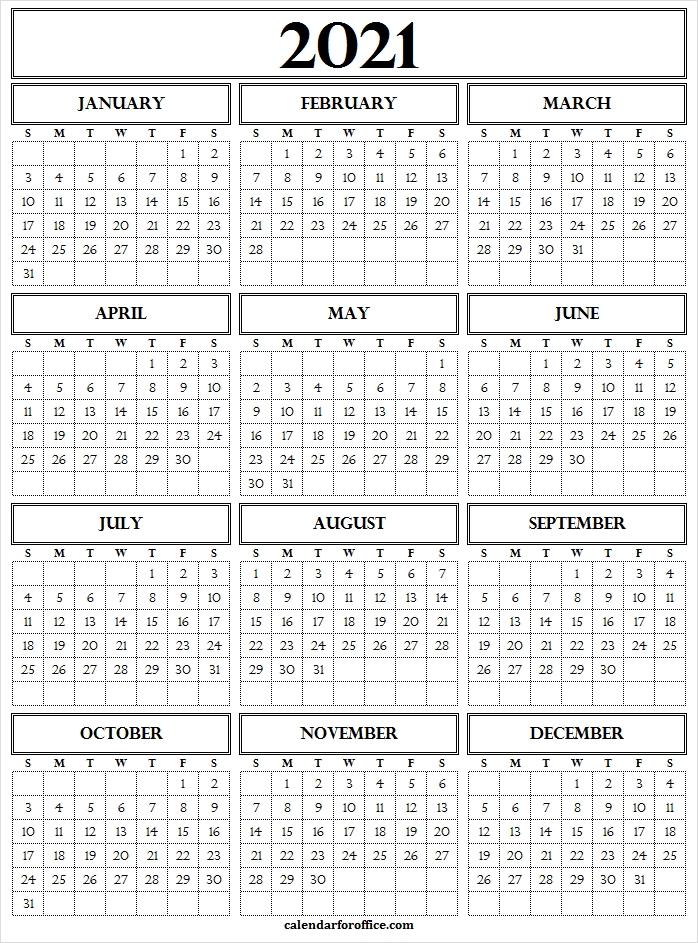 2021 Calendar Excel Format Free - 2021 Calendar Year