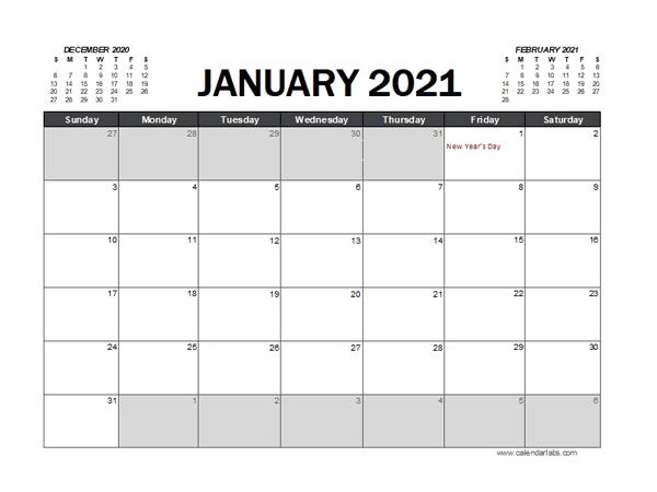 2021 Calendar Planner Hong Kong Excel - Free Printable