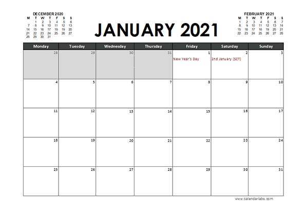 2021 Calendar Planner Uk Excel - Free Printable Templates