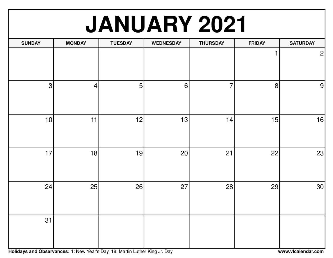 2021 Calendar Squares To Rpint | Calendar Printables Free