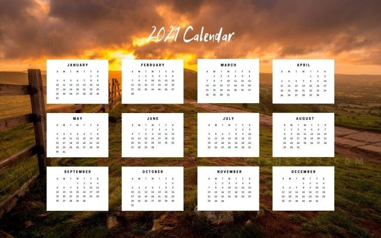 2021 Calendar - Wishes Db