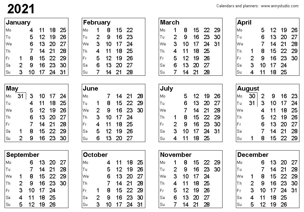 2021 Calendar With Weeks | Qualads