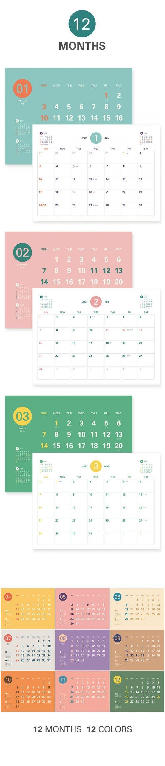 2021 Desk Calendar 2021 Calendar Desk Schedule 2021 | Etsy