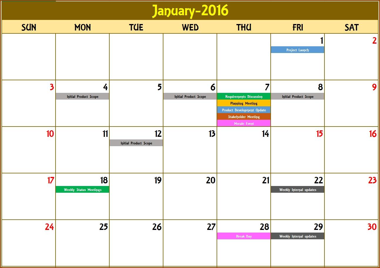 2021 Excel Calendar Template - Excel Calendar 2021 Or Any
