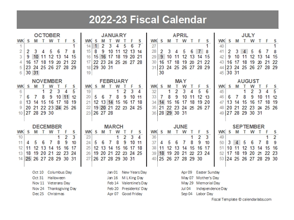 2021 Fiscal Year Quarters Template - Free Printable Templates