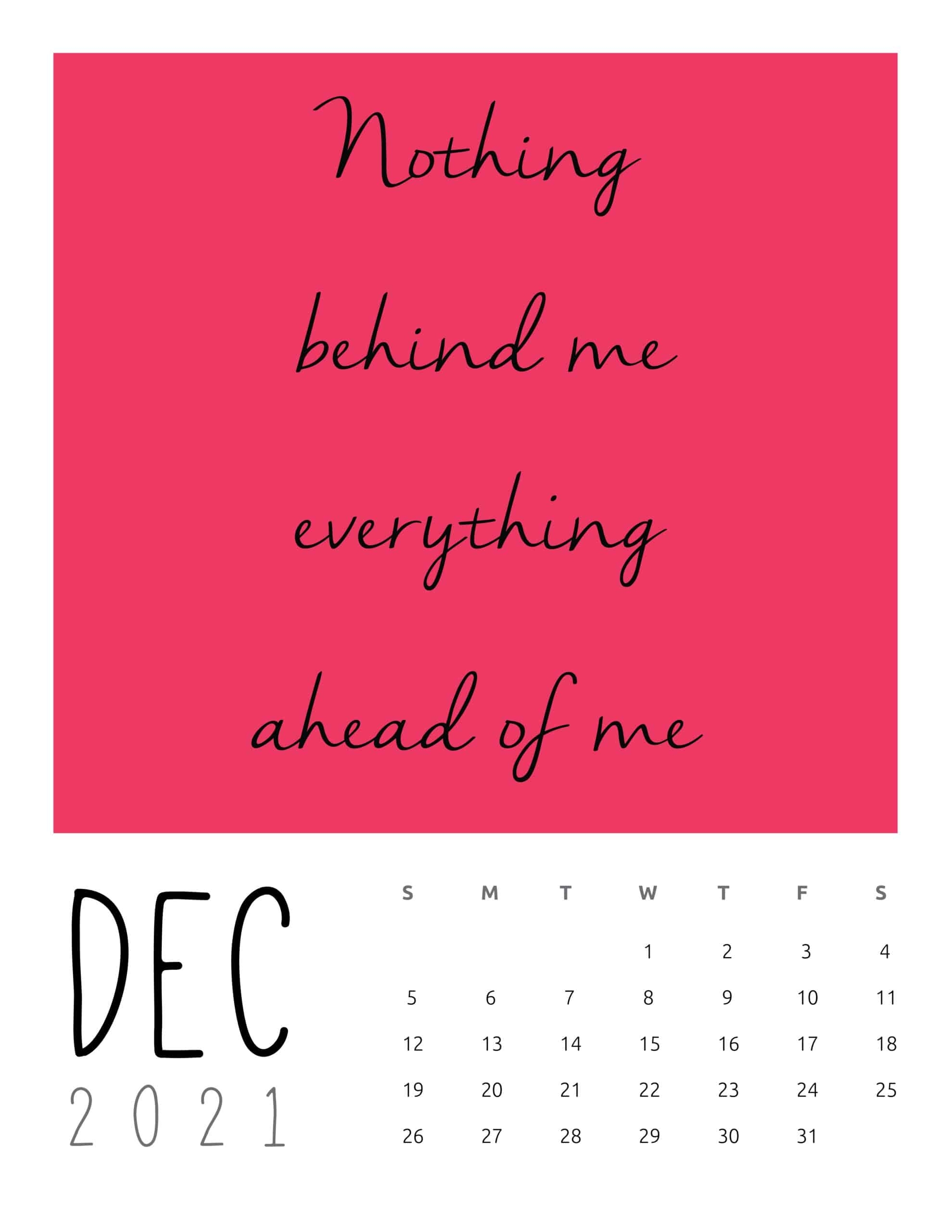 2021 Inspirational Quotes Calendar - World Of Printables