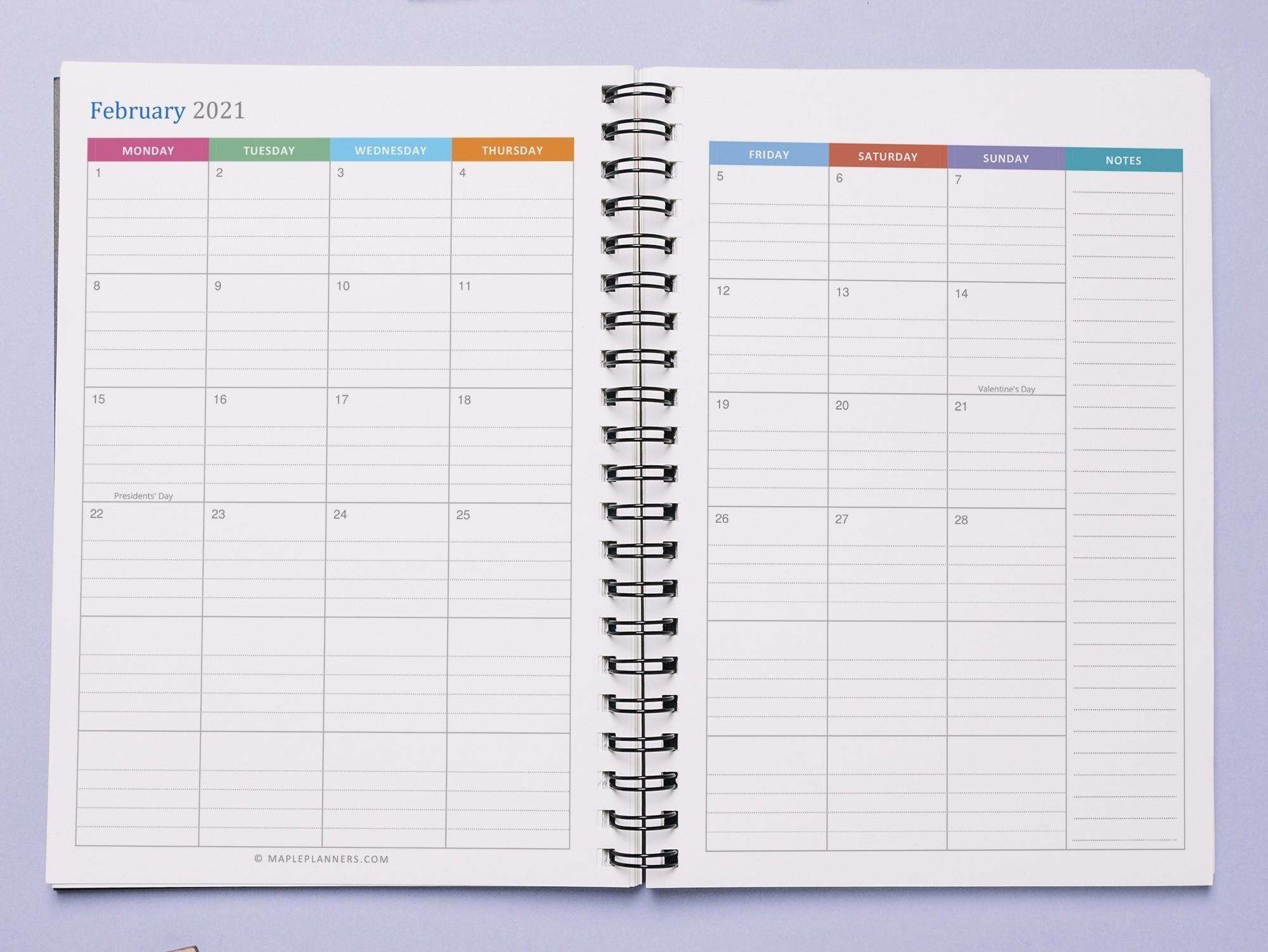 2021 Lined Monthly Calendar | Month Calendar Printable