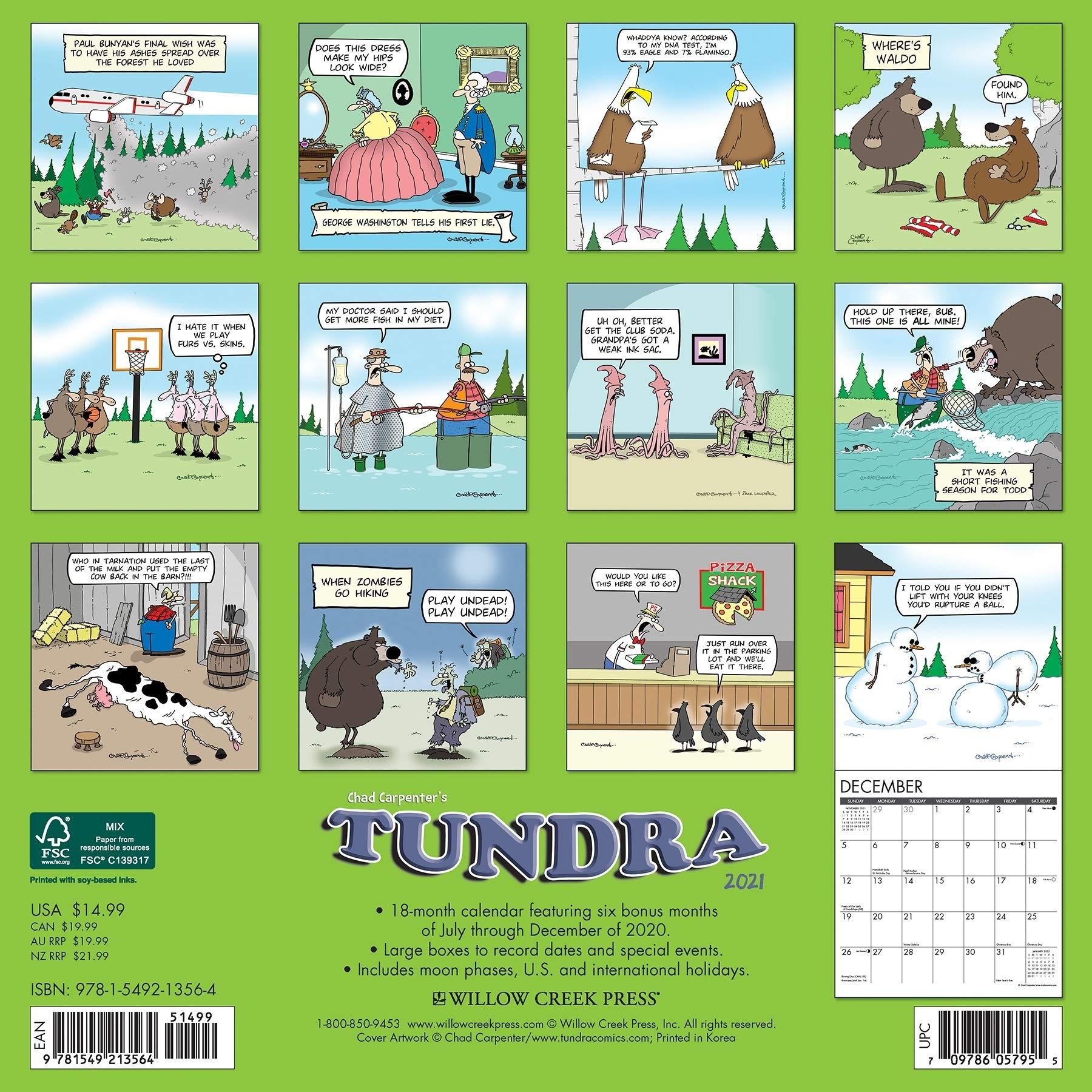 2021 Tundra Wall Calendar   Tundra Comics