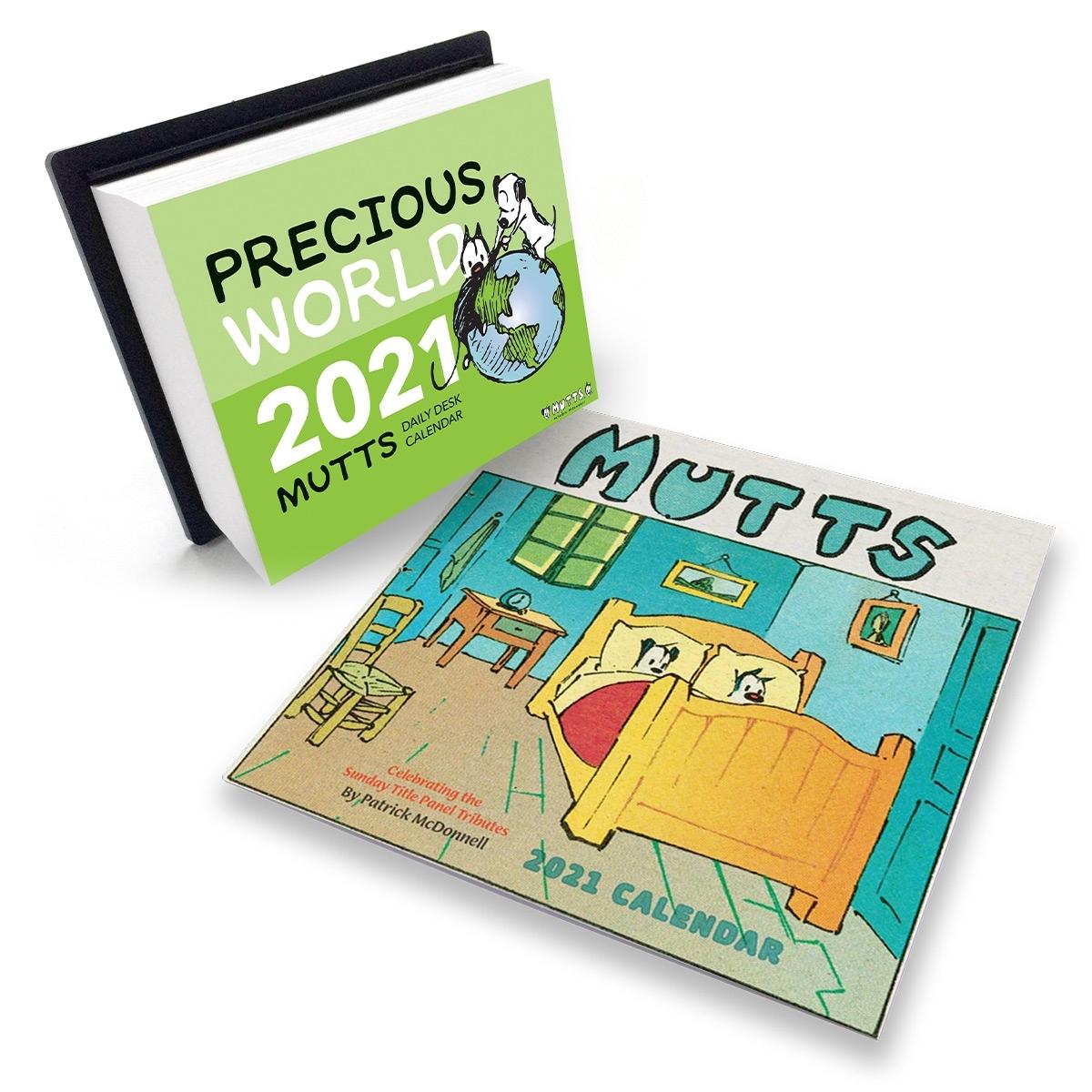 2021 Wall & Desk Calendar Set   Mutts